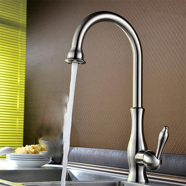 Küchenarmatur, Wasserhahn küche mit herausziehbarer Dual-Spülbrause,Spiralfederhahn Wasserhahn.Kaltes und Heies Wasser Vorhanden Messing verchromt Robinet d'évier de cuisine rotatif à 360 degrés