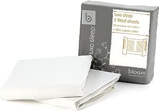 Bloom Alma Mini 2-pc Fitted Sheet Set - 100% Organic Cotton (Coconut White)