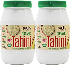 Roots Circle USDA Organic Tahini Paste | 16oz -2 Pack | 100% Natural Pure Ground Sesame Seed Paste for Hummus, Sesame Tahini Sauce & Dressing | Certified Vegan, Kosher | Gluten & Peanut free & Non-GMO