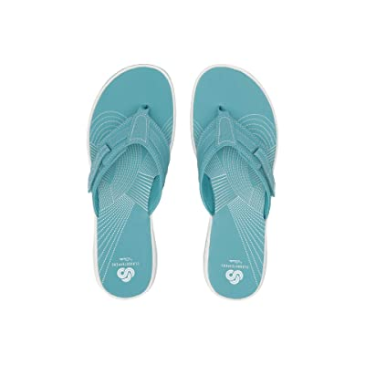 Clarks Brinkley Reef (Aqua Synthetic) Women