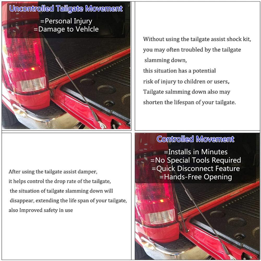 Oneuda Car Tailgate Assist Shock Vehicle Tailgate Gas Assist Slowdown Struts Fit For 2009-2018 Dodge Ram 1500 2500 3500 Truck Car Styling