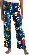 Peanuts Halloween Snoopy Charlie Brown Women's Pajama Minky Fleece Sleep Pants, Blue