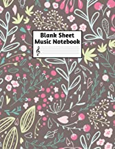 Blank Sheet Music Notebook: Easy Blank Staff Manuscript Book Large 8.5 X 11 Inches Musician Paper Wide 12 Staves Per Page for Piano, Flute, Violin, ... other Musical Instruments - Code : A4 2379