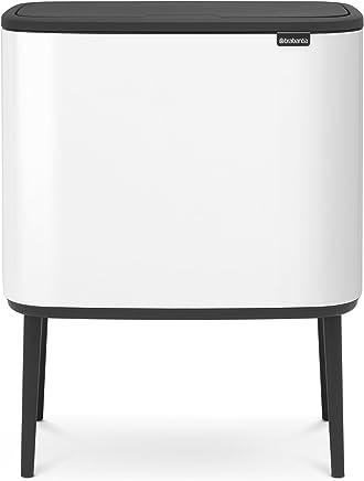 Brabantia   Bo 一触式垃圾桶  11L×3分类桶 白色 【比利时制造】313523