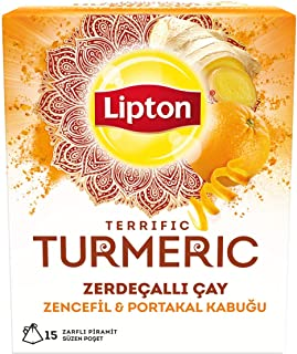 Lipton Terrific Turmeric Zencefil Ve Portakal Kabuğu Zerdeçallı Bardak Poşet Bitki Çayı 30G