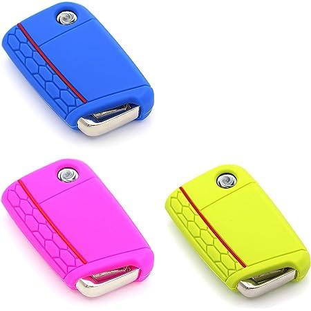 3er Set Schlüssel Hülle Vb Für 3 Tasten Auto Schlüssel Elektronik