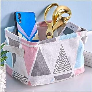 MJY Boîte de rangement en tissu Boîte de rangement pour panier à linge Produits cosmétiques Table de rangement pour collat...