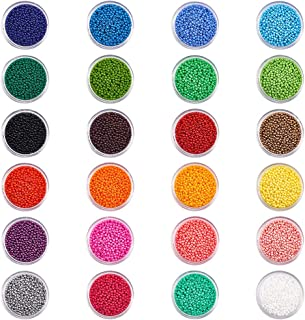 PH PandaHall Elite 24 Boxes Of About 24000 Pcs 12 0 Multicolor Beading Glass Seed Beads 24 Colors Opaque Round Pony Bead M...