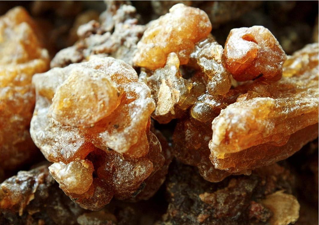 シリング彫る謎Oman ロイヤルフランキンセンスブランド認定オーガニックミルラ樹脂 (Commiphora myrrha) 1/2 lb ブラウン
