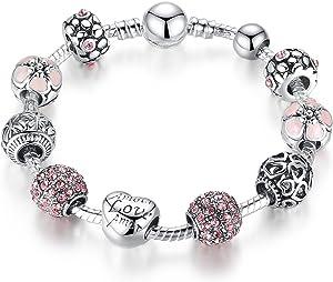 Presentski braccialetto del braccialetto di fascino con Charms Amore Amore Amore per le ragazze adolescenti