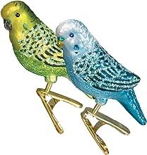 Old World Christmas Blown Glass Clip-On Ornament - Miniature Parakeet, Set of 2