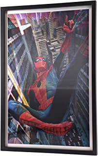 Open Road Brands Marvel Spiderman in Action 3D Black Lenticular Hanging Wall Art - an Officially Licensed Product Great Addition to Add What You Love to Your Home/Garage Decor