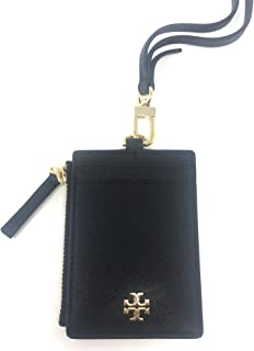 Tory Burch Women's Emerson Saffiano Leather ID Badge w/Card and Coin Slots (Black)