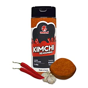 UMMAMI FOODS Deliciously Spicy Korean Chili Powder with Fresh Kimchi Seasoning Mix - Same Spicy Level as Tabasco - Authentic - Finger Licking Experience - Spicy Meal With A Umami Taste - Gluten Free, Probiotics, Non GMO, and Vegan (60g)