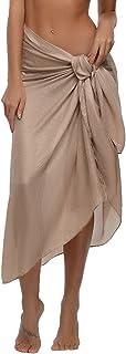 comprar comparacion Abollria Mujer Chales Manto Estola Bufandas de Gasa Cubierta de Bikini Falda Bañador Cover Up Ligero y Suave Multiusos Sar...