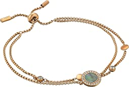 Grey Mother-of-Pearl and Rose Gold Multi-Strand Slider Closure Bracelet