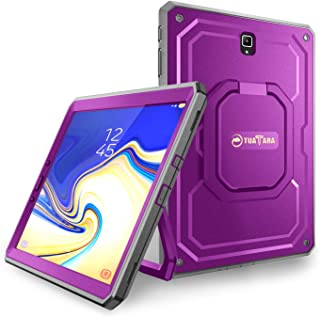 Fintie Shockproof Case for Samsung Galaxy Tab S4 10.5 2018 Model SM-T830/T835/T837, [Tuatara Magic Ring] [360 Rotating] Multi-Functional Grip Stand Carry Cover w/Built-in Screen Protector, Purple