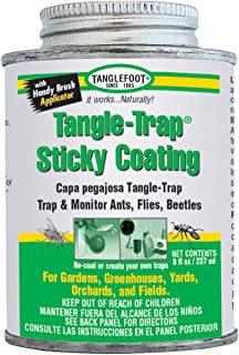 Tangle Foot 018441950082 Tanglefoot 300000588 8-Ounce Tangle Brush On Sticky Trap Coating, 8 oz (Old), White