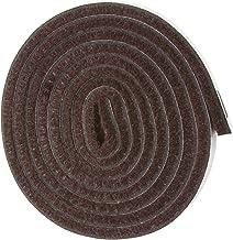 Rolo de fita de feltro resistente autoaderente para superfícies duras (1,27 cm x 152,4 cm), marrom nogueira