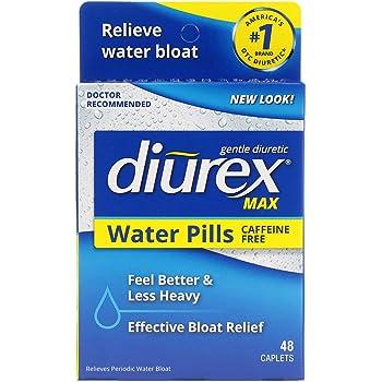 Diurex Max Water Pills - Maximum Strength Caffeine Free Diuretic - Relieve Water Bloat - 48 Count