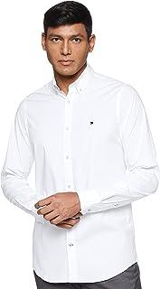 Tommy Hilfiger Men's Core Stretch Slim Poplin Shirt Casual, Midnight Blue, XXX-Large