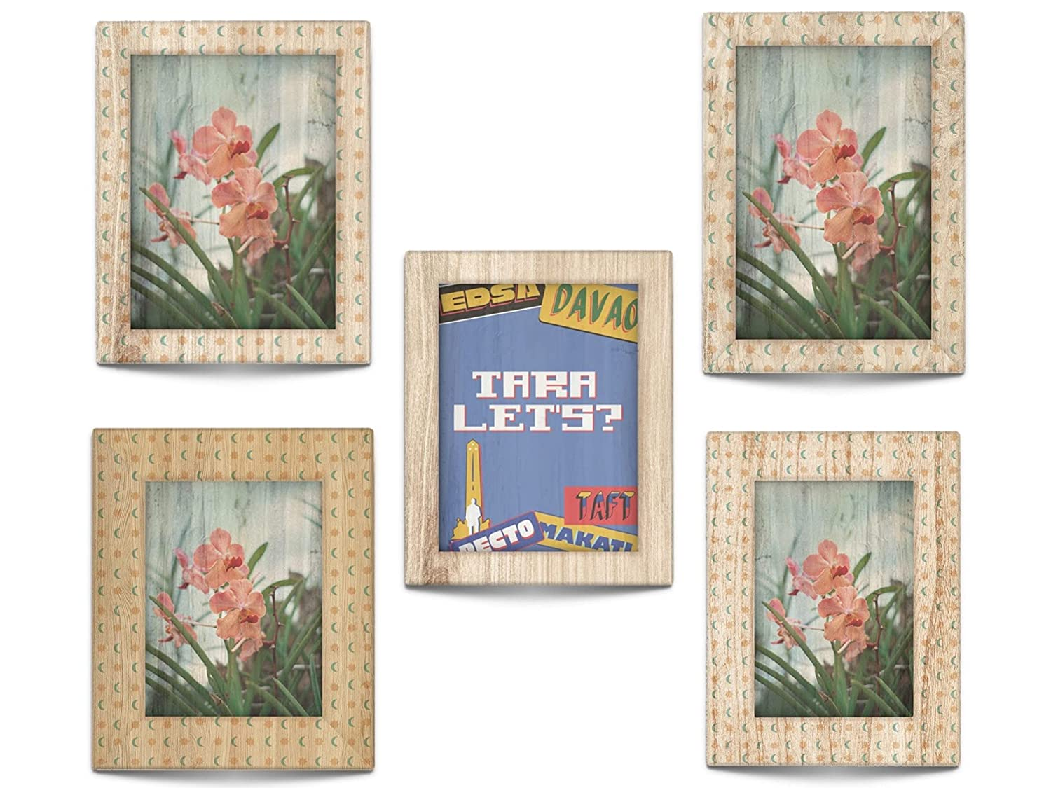 Personalized Water Hyacinth Canvas Great interest Wall Art Decor with Wooden Pi Cash special price