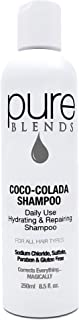 Pure Blends Coco-Colada Daily Use Hydrating Repairing Shampoo 8.5 Ounce - Salon Quality