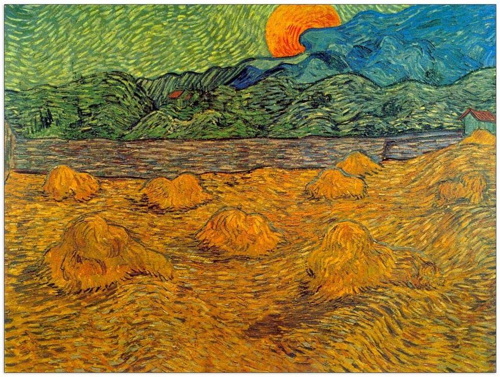 New Free Shipping ArtPlaza Van Gogh Vincent - Panel Moon Rising Decorative Under blast sales 51x39.