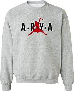 Qasimoff Air Arya Valar Morghulis Game Gamer Funny Thrones Crewneck Sweater