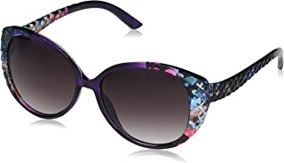 Jessica Simpson Women's J5386 Over-Sized Cat-Eye Sunglasses with Quilted Temple Detail & 100% UV Protection, 65 mm