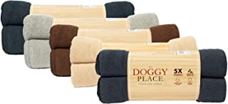 "My Doggy Place Pet Dog Cat Microfiber XL Drying Towel 45"" x 28"", Ultra Absorbent for Small, Medium, Large Dog Cats Great for Bathing and Grooming (Charcoal, 2 Pack)"