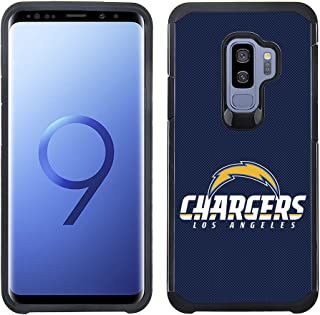 Prime Brands Group Textured Team Color Cell Phone Case for Samsung Galaxy S9 Plus - NFL Licensed Los Angeles Chargers