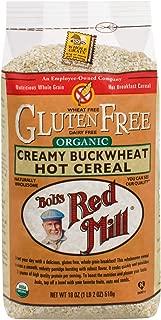 Bob's Red Mill Gluten Free Organic Creamy Buckwheat Hot Breakfast Cereal, 18 Oz (4 Pack)