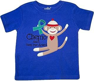 inktastic Teal Ribbon Chemo Sock Monkey Toddler T-Shirt