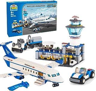 City Airplane Station Building Kits Toys,STEM Building...