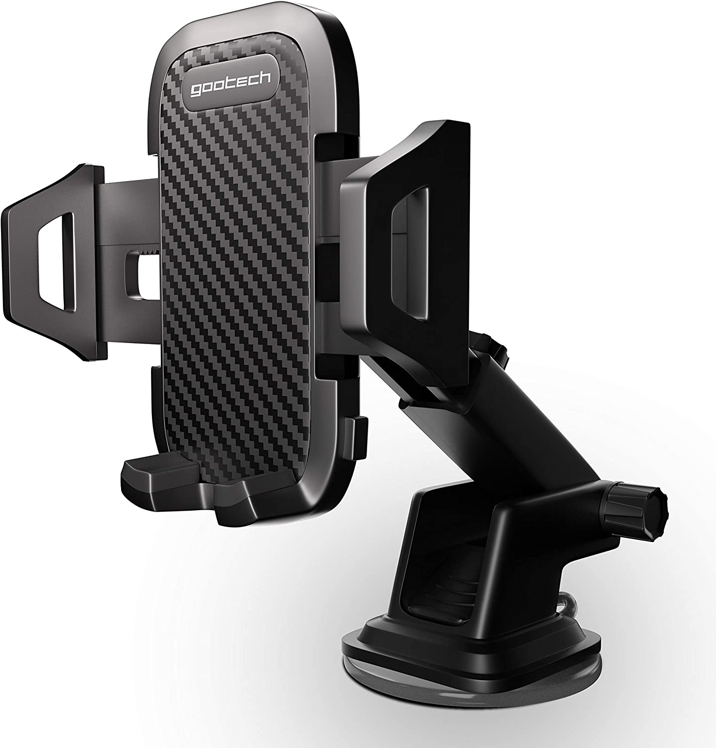 Universal Phone Holder for Car | Dashboard & Windshield Car Phone Holder | Carbon Long Arm Strong Suction Car Phone Mount - Compatible with All iPhone & Samsung LG Nexus Nokia (Carbon Holder)