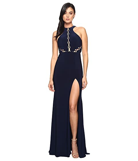 FAVIANA Lace-Up Illusion On Jersey 7909, Navy