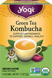 Yogi Tea - Green Tea Kombucha - Supplies Antioxidants to Support Overall Health - 6 Pack, 96 Tea Bags Total