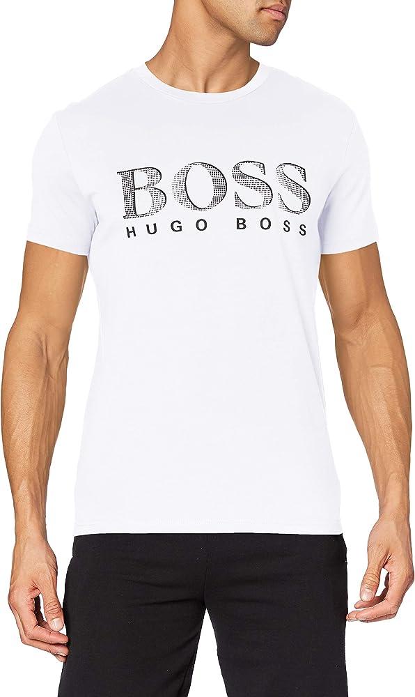 Boss, t-shirt rn per uomo,100% cotone 50407774