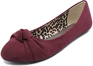 39b242cbd2c Charles Albert Women's Knotted Front Canvas Round Toe Ballet Flats