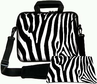 LUXBURG® 15,6 Pulgadas Bolso de hombro con diseño, Funda con Bandolera en Neopreno para Ordenador Portátil. Además alfombr...