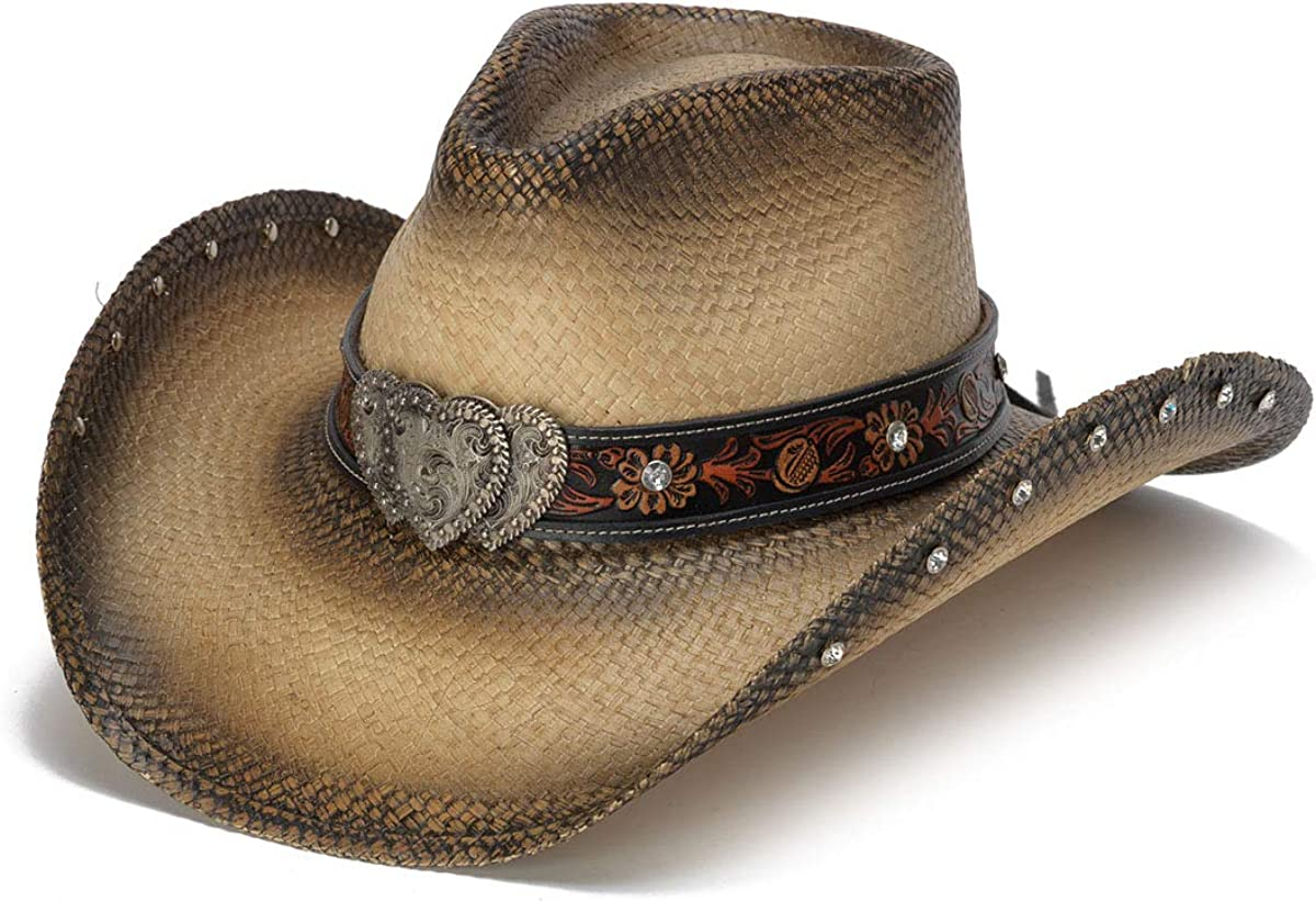 Year-end annual account Stampede Hats A surprise price is realized Women's Sabrian Heart Hat Rhinestone Western