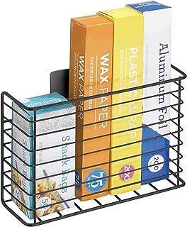 mDesign Panier de Rangement en métal – Rangement Placard pour Accessoires de Cuisine – Rangement Mural pour Papier alu, Pl...