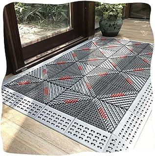 JIAJUAN Entryway Doormat Waterproof Heavy Duty Outdoor Combination Splicing Non-Slip Welcome Door Mat Rain Snowy Day (Colo...
