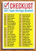 Baseball MLB 2011 Topps Heritage Checklists #4 Checklist #4 NM Near Mint