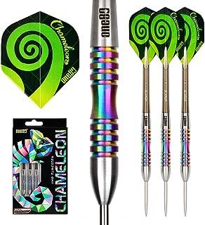 ONE80 Chameleon 90% Tungsten Steel Tip Darts with Gift Box, Professional Dart Set (CR 23g)