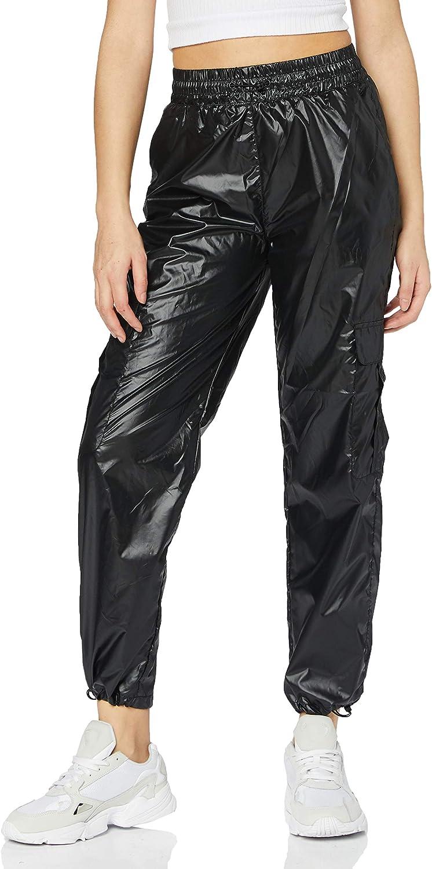 Urban Classics Ladies - Shiny Cheap mail order shopping Pants Track Superlatite Cargo