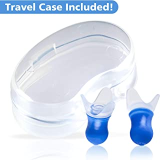 Lewis N. Clark Comfortable Noise Cancelling Ear Plugs for Airplane, Mountain Hiking, Sound Reduction + Altitude Sickness Relief with Included Reusable Travel Case