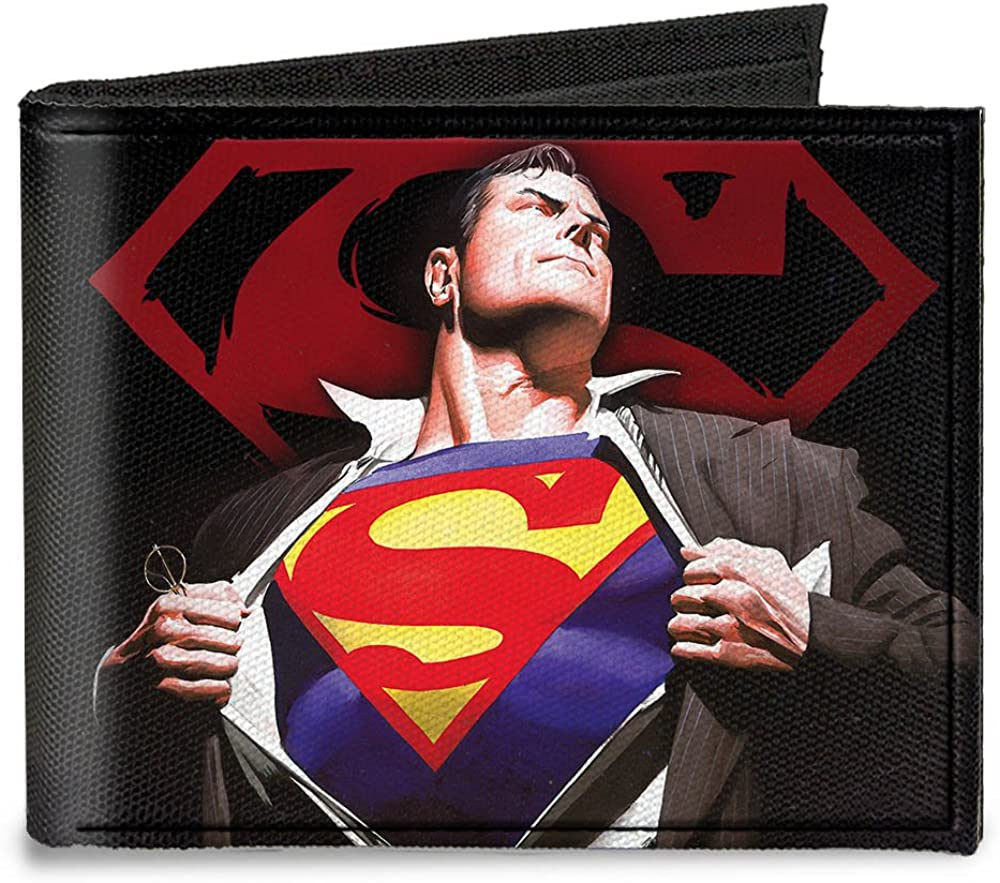 Buckle-Down Canvas Bi-fold Wallet-Uperman Forever Clark Kent-Superman