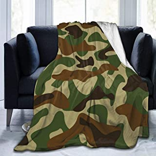 """Fleece Blanket 50"""" x 60""""-Camouflage(2) Home Flannel Fleece Soft Warm Plush Throw Blanket for Bed/Couch/Sofa/Office/Camping"""